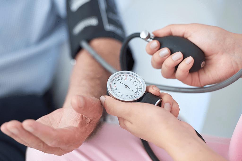high blood pressure check